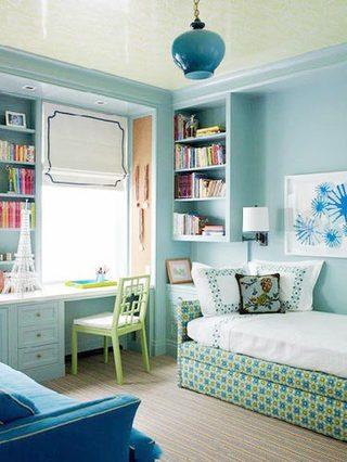 简约美式书房装饰效果图