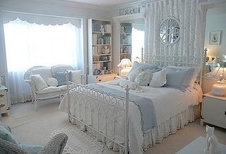 蓝色卧室设计实景图片