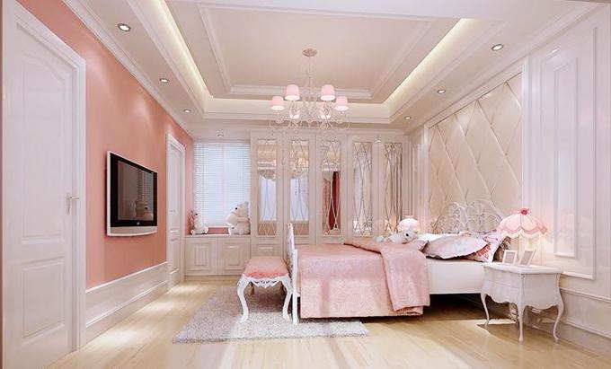 粉色卧室创意效果图