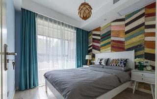 创意复古波普风混搭卧室效果图