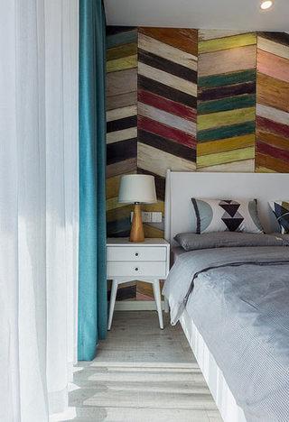 89平现代简约清新卧室背景墙装饰设计