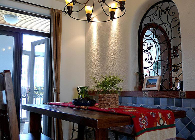 复古东南亚风情餐厅设计图