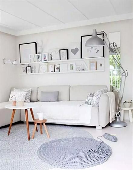 沙发背景墙创意收纳设计