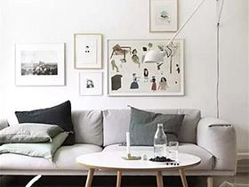 客厅颜值有救了 11个沙发背景墙装饰画图片