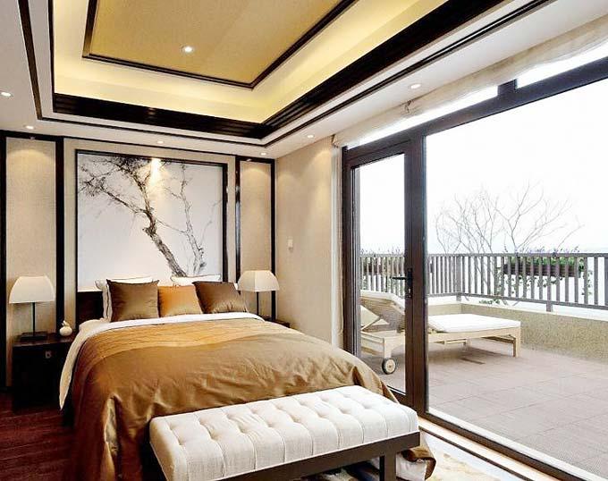 中式卧室阳台设计图