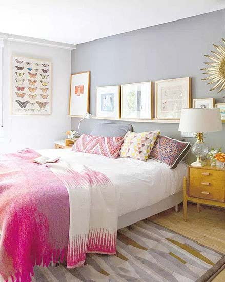 粉色系卧室构造图片大全