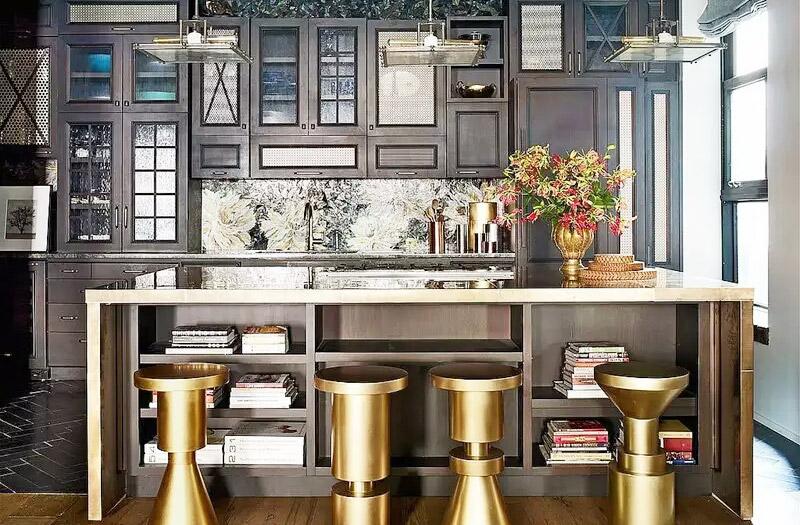 工业风格开放式厨房吧台设计