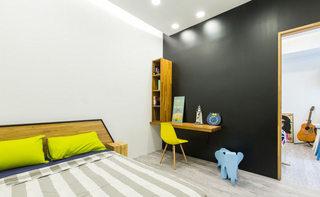 90平米现代简约儿童房背景墙设计效果图