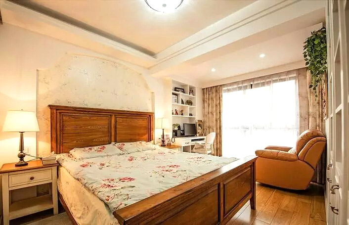 休闲乡村美式主卧室装潢设计图