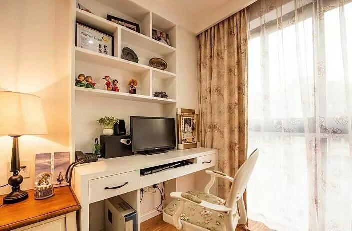 休闲美式小书房窗帘设计
