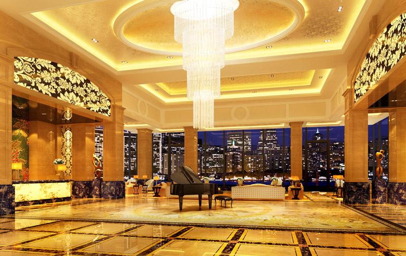 大气酒店大厅装潢设计