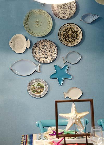精美地中海风情 装饰陶瓷盘效果图