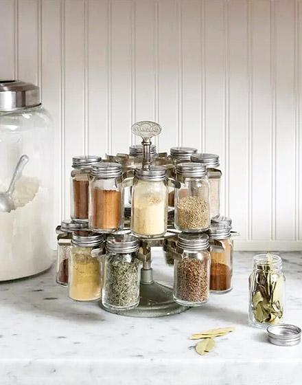 厨房调味罐收纳效果图