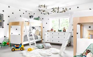 300平度假别墅儿童房高低床图片