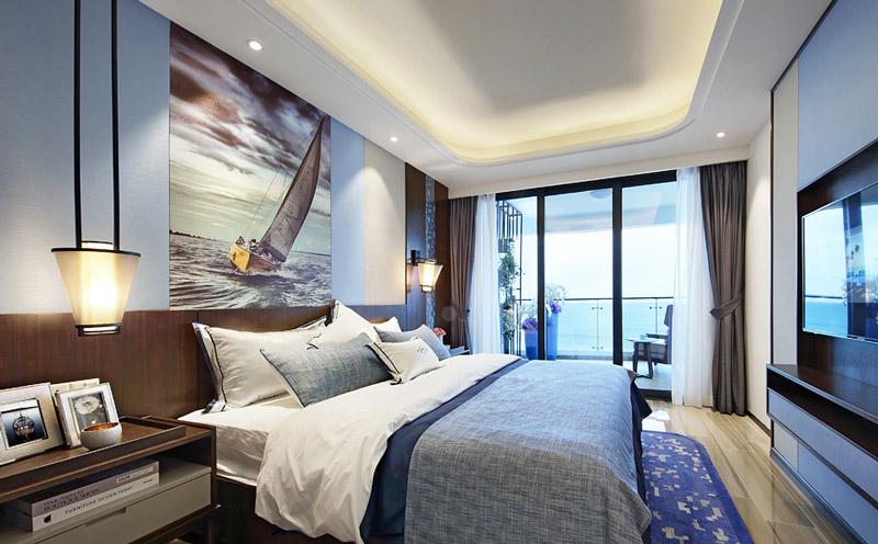 109平简约两居室主卧室装潢图
