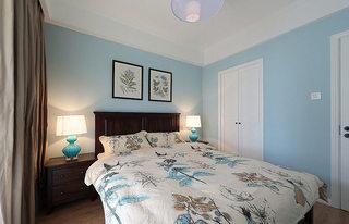 美式风格小清新70平米卧室设计图