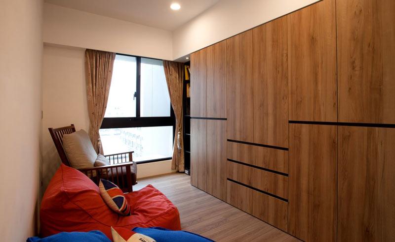 120平美式乡村风格书房装修设计效果图