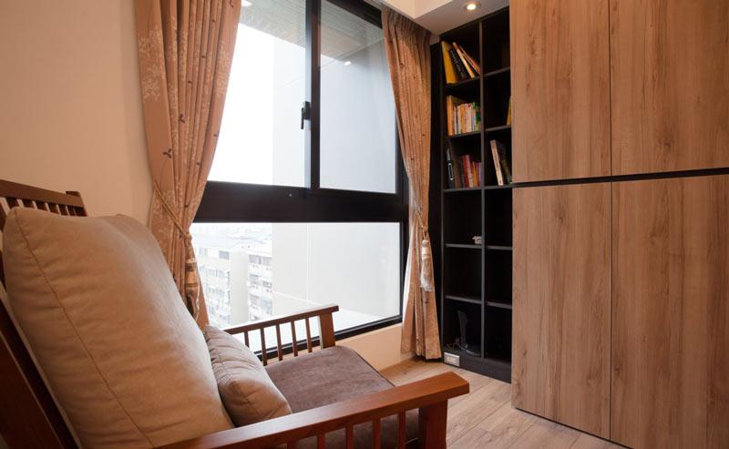 120平美式乡村风格隐形书柜设计效果