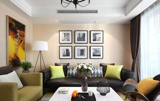 简约风格四房两厅客厅沙发摆放图片