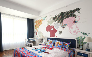 简约风格四房两厅儿童房装潢图片