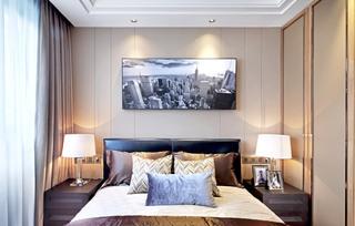160平米三居室卧室装潢图片