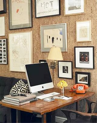 书房软木背景墙装修效果图