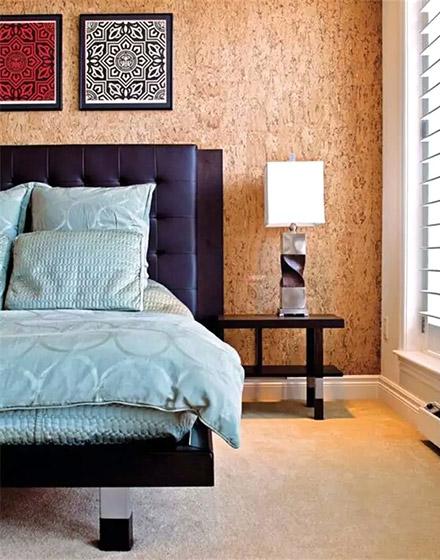 卧室软木背景墙装修图片