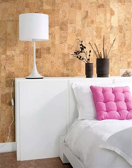 另类卧室床头软木背景墙装修2016