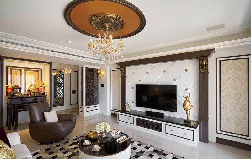 华丽欧式客厅 电视背景墙欣赏