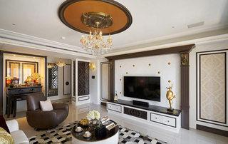150平欧式古典风格华丽电视背景墙装饰