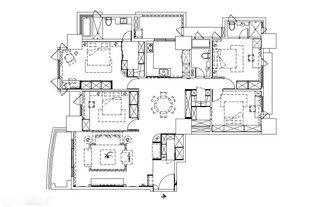 150平欧式古典风格房子装修设计图