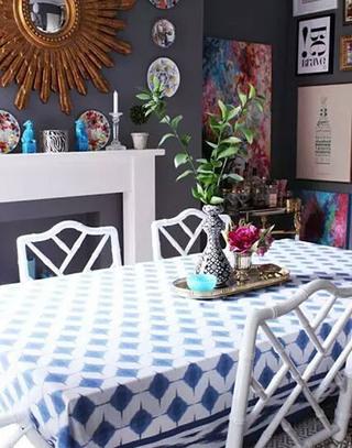 雅致餐厅桌布装饰图片大全