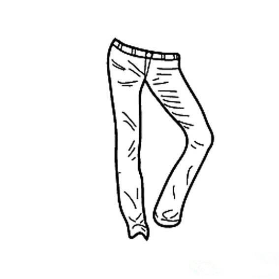 关于裤子的简笔画简单画法,女性牛仔裤简笔画图片,怎么画牛仔裤,儿童简笔画牛仔裤的画法,简单易画的女生牛仔裤