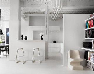76平北欧白色艺术吧台设计图
