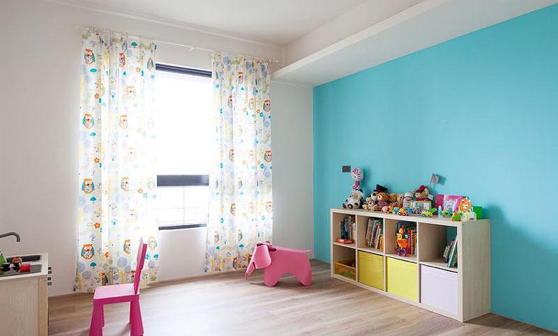 清新淡雅蓝绿色儿童房效果图