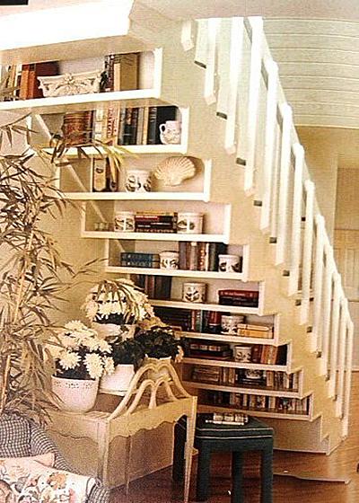 美式楼梯实景布置图