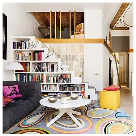 楼梯收纳设计实景图