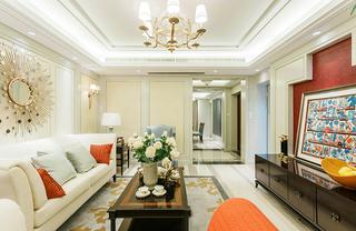 浪漫精致美式客厅装饰效果图