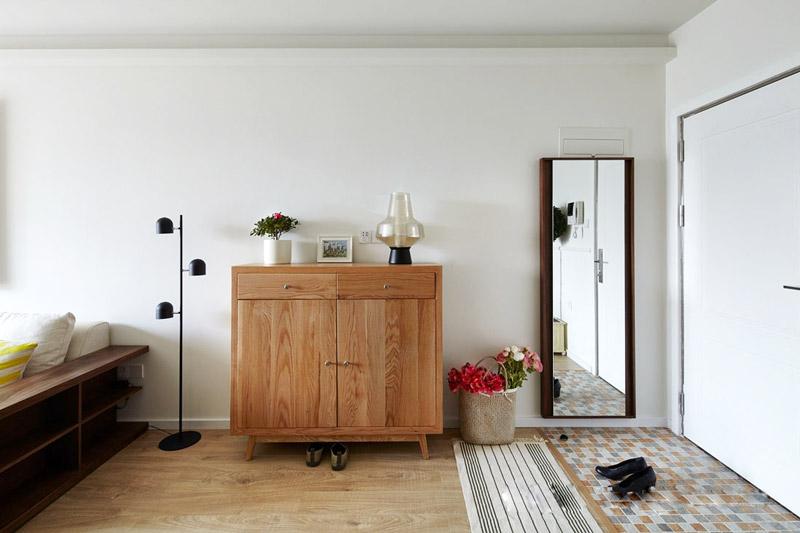 北欧风格三居室玄关布置效果图