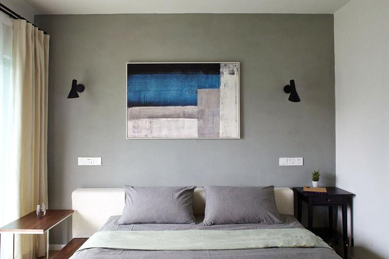 北欧风格三居室卧室背景墙装饰画图片
