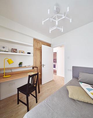北欧风格三居室卧室书房图片