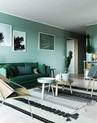 绿色客厅装修设计效果图