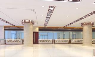 郑州中医院中式风格大厅效果图