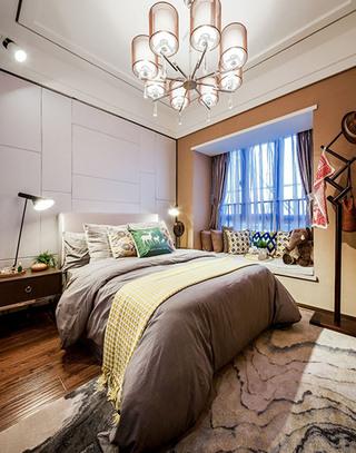 优雅现代北欧风格卧室装潢设计
