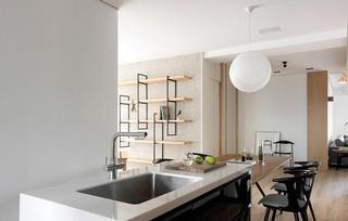 现代简约三居室厨房流理台图片