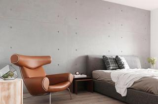 现代简约三居室主卧室装修