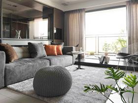 时尚感十足  简约三居室很有都市感