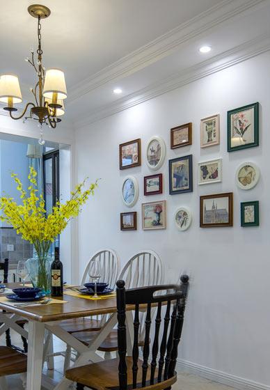 168平美式现代风格餐厅照片墙装饰