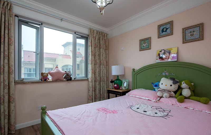 粉嫩系乡村美式儿童房设计装修