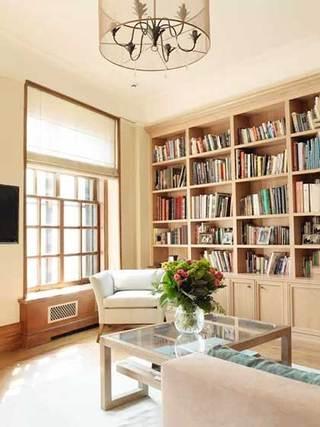 木色书房布置设计效果图